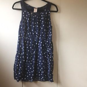 Women's XL Mossimo Summer dress navy polka dot